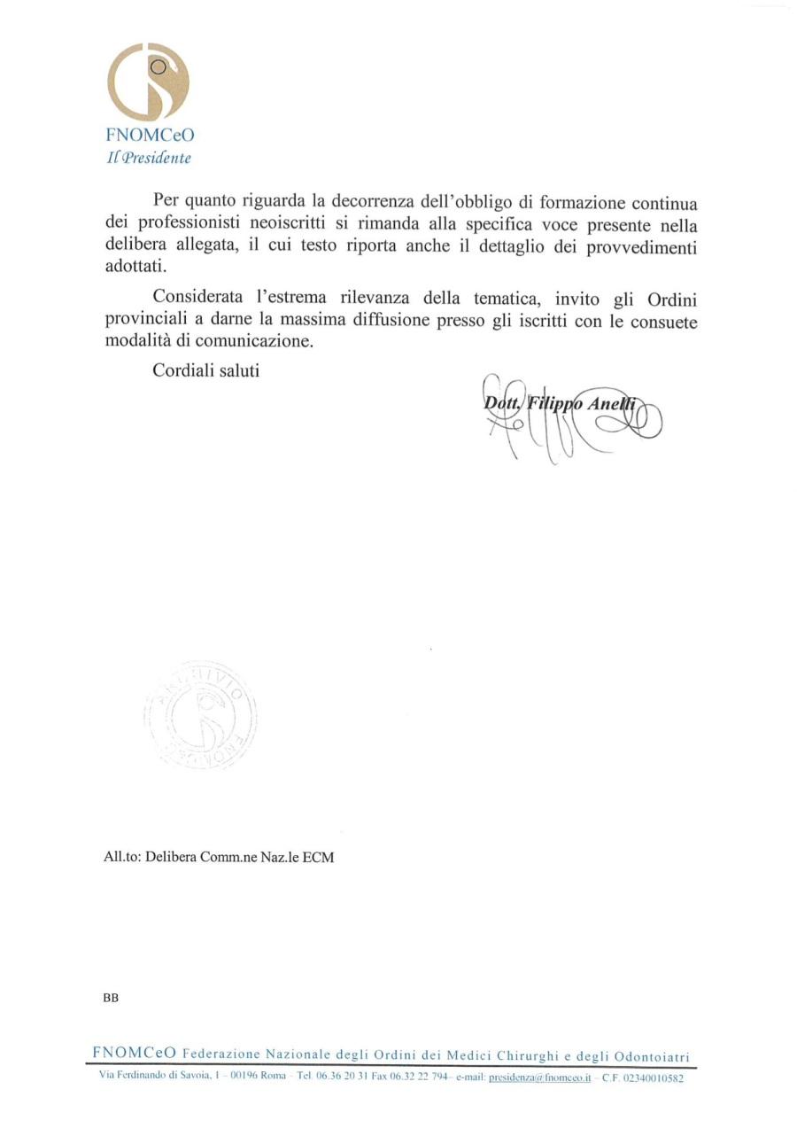 2 COM. N. 111_Delibera Comm. Naz.le ECM recupero crediti autoformazione triennio 2017-2019_Prot. 17086_15-11-2018