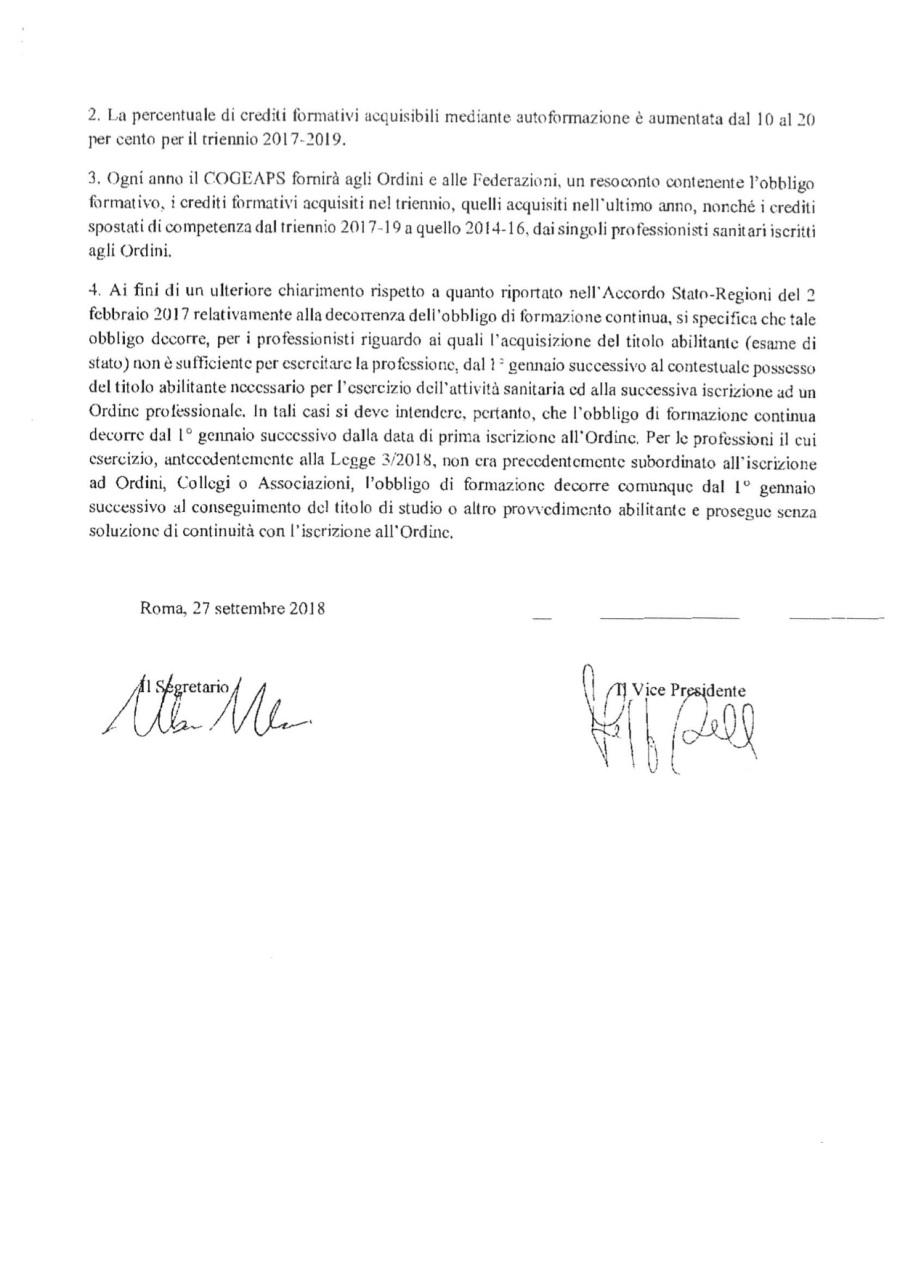 5 COM. N. 111_Delibera Comm. Naz.le ECM recupero crediti autoformazione triennio 2017-2019_Prot. 17086_15-11-2018